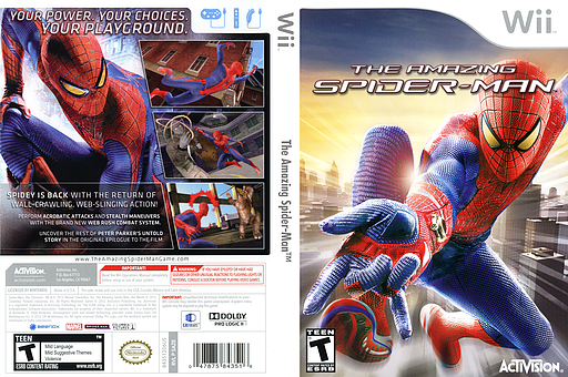 The Amazing Spider-Man Wii cover (SAZE52)