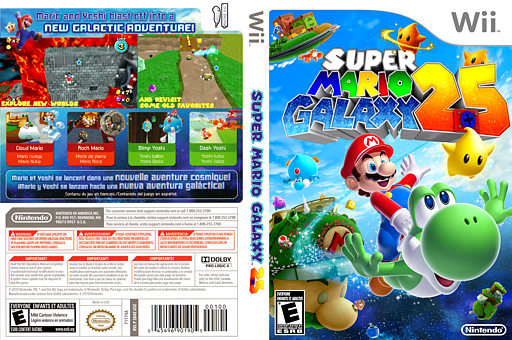 Super Mario Galaxy 2.5 CUSTOM cover (SB4E25)