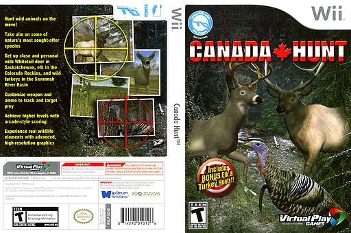 Canada Hunt Wii cover (SCHEQH)