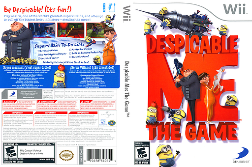 Despicable Me: The Game Wii cover (SDMEG9)