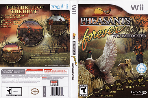 Pheasants Forever: Wingshooter Wii cover (SFZEPZ)