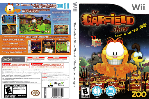 The Garfield Show: Threat of the Space Lasagna Wii cover (SG7E20)