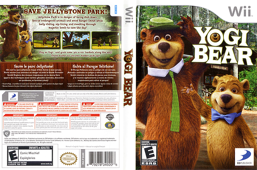 Yogi Bear Wii cover (SG8EG9)