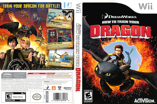 How to Train Your Dragon Wii cover (SHDE52)