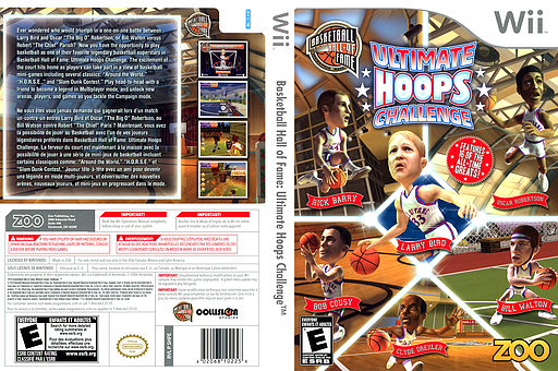Basketball Hall of Fame: Ultimate Hoops Challenge Wii cover (SHFE20)