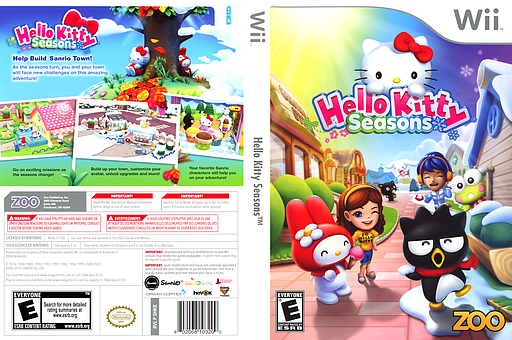 Hello Kitty Seasons Wii cover (SHKE20)