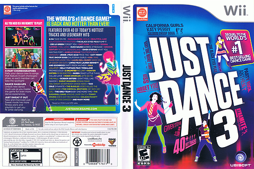 Just Dance 3 Wii cover (SJDE41)