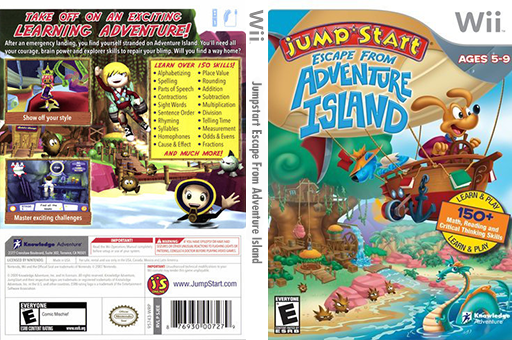 JumpStart Escape from Adventure Island Wii cover (SJEEPK)