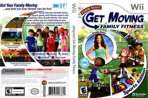 JumpStart Get Moving Family Fitness Wii cover (SJGEPK)