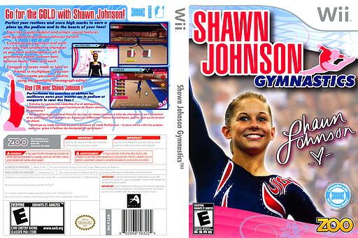 Shawn Johnson Gymnastics Wii cover (SJVE20)