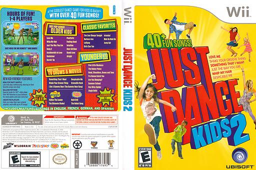 Just Dance Kids 2 Wii cover (SJZE41)