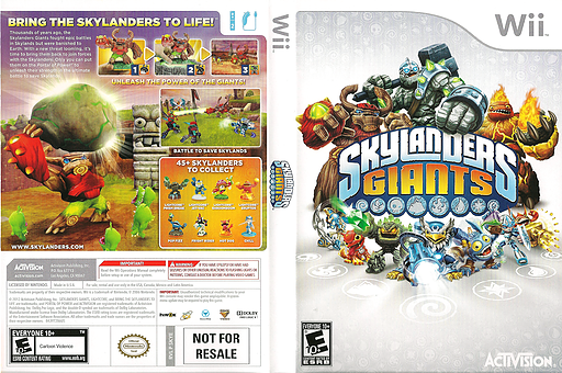Skylanders: Giants Wii cover (SKYE52)