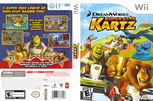 DreamWorks Super Star Kartz Wii cover (SKZE52)
