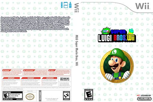 MLG Super Luigi Bros Wii CUSTOM cover (SLBE01)