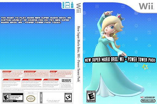 New Super Mario Bros. Wii - Power Tower Pack CUSTOM cover (SMNE50)