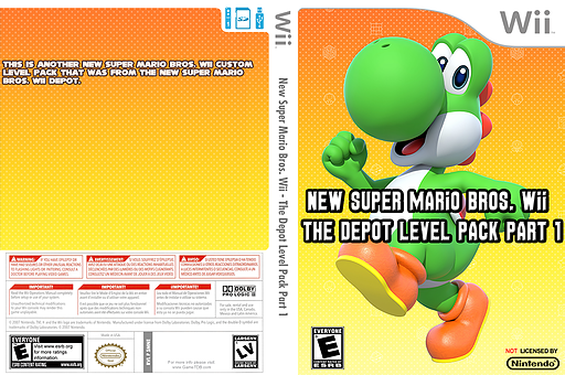 New Super Mario Bros. Wii - The Depot Level Pack Part 1 CUSTOM cover (SMNE51)