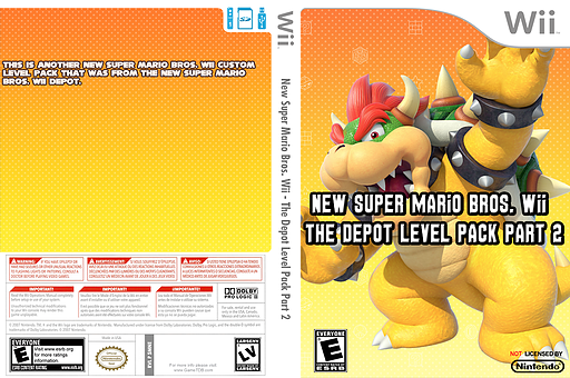 New Super Mario Bros. Wii  - The Depot Level Pack Part 2 CUSTOM cover (SMNE52)