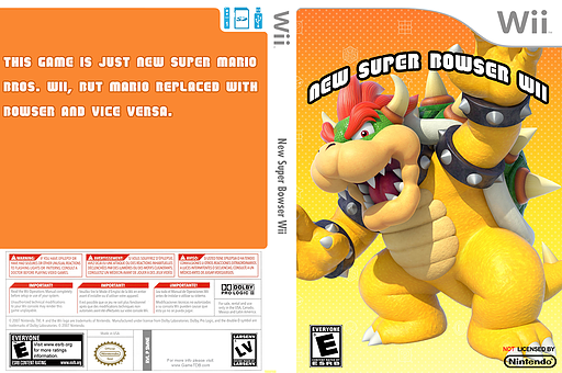 New Super Bowser Wii CUSTOM cover (SMNE62)