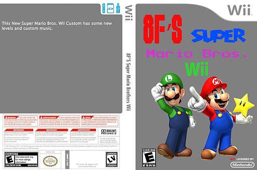 8Forrest's Super Mario Bros. Wii CUSTOM cover (SMNEYE)
