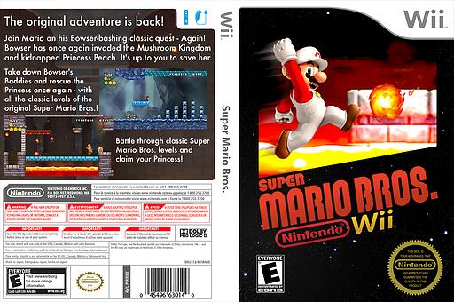 New Super Mario Bros. Wii: Super Mario Bros. 1 Custom CUSTOM cover (SMRE01)