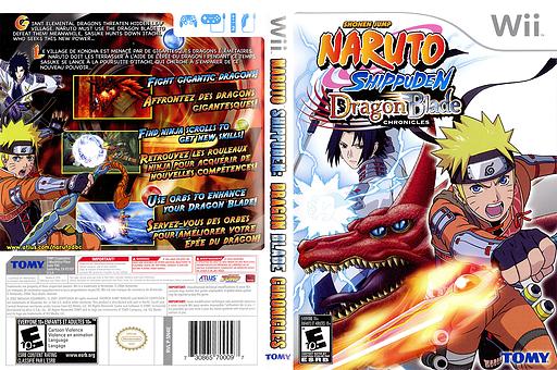 Naruto Shippuden: Dragon Blade Chronicles Wii cover (SN4EDA)