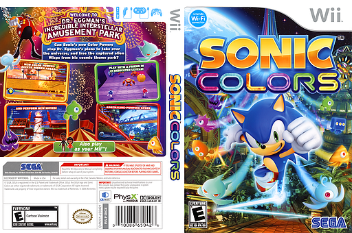 Sonic Colors Wii cover (SNCE8P)