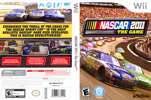 NASCAR 2011: The Game Wii cover (SNSE52)