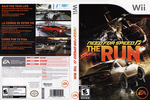 Need for Speed: The Run Wii cover (SNVE69)