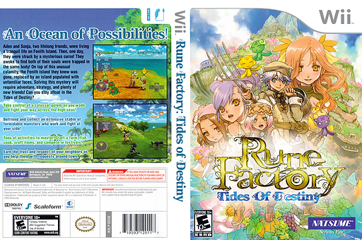 Rune Factory: Tides of Destiny Undub CUSTOM cover (SO3EUD)