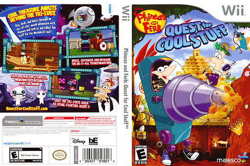 Phineas and Ferb: Quest for Cool Stuff Wii cover (SQFE5G)