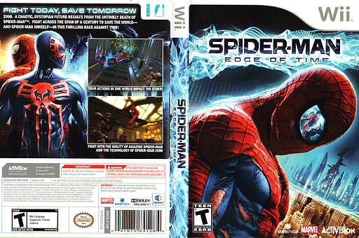Spider-Man: Edge of Time Wii cover (SQME52)