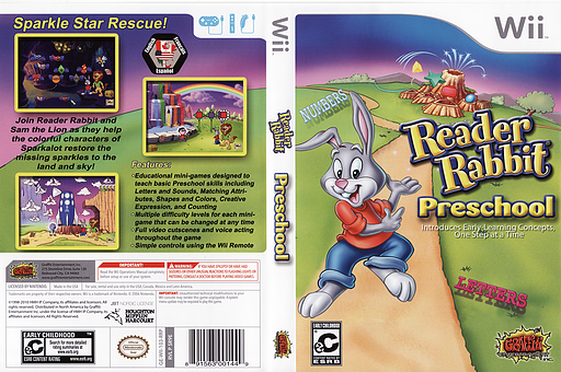 Reader Rabbit Preschool Wii cover (SR9EHG)