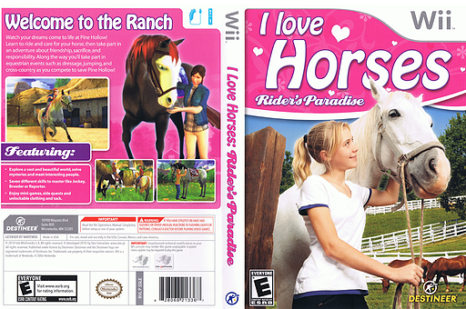 I Love Horses: Rider's Paradise Wii cover (SSLENR)