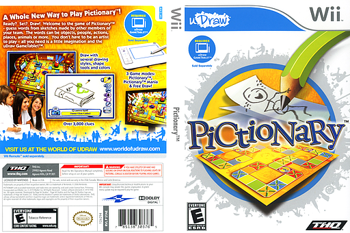 Pictionary Wii cover (STAE78)