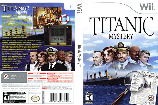 Titanic Mystery Wii cover (STMEGN)