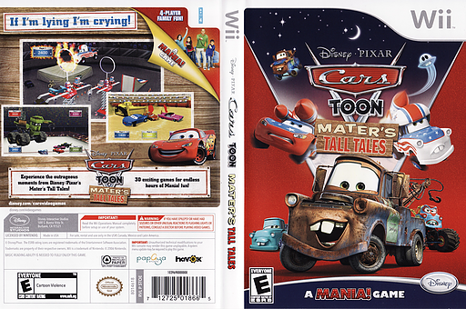 Cars Toon: Mater's Tall Tales Wii cover (STOE4Q)
