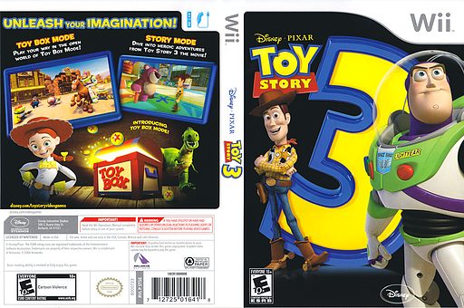 Toy Story 3 Wii cover (STSE4Q)