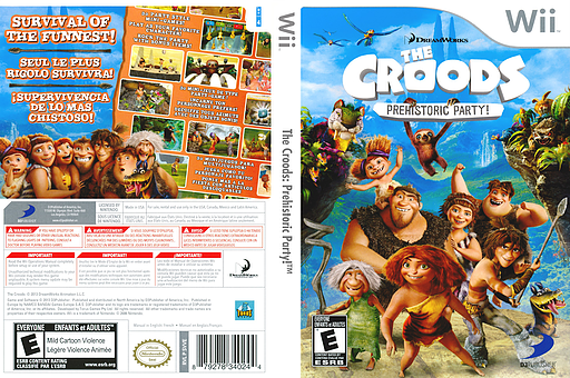 The Croods: Prehistoric Party! Wii cover (SVVEG9)