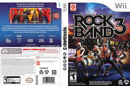 Rock Band 3 Wii cover (SZBE69)