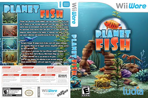 Planet Fish WiiWare cover (W22E)