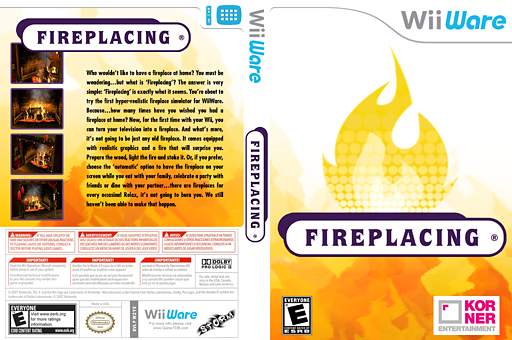 Fireplacing WiiWare cover (W2YE)