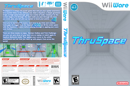 ThruSpace WiiWare cover (W3KE)