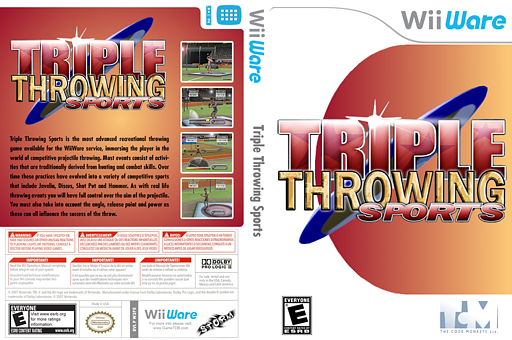 Triple Throwing Sports WiiWare cover (W3PE)