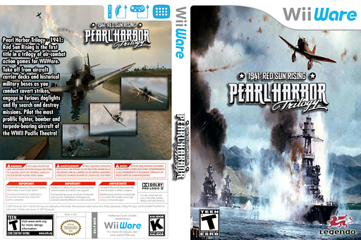 Pearl Harbor Trilogy - 1941: Red Sun Rising WiiWare cover (W3TE)