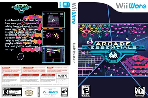 Arcade Essentials WiiWare cover (WACE)