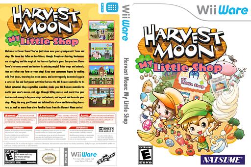 Harvest Moon: My Little Shop WiiWare cover (WBJE)