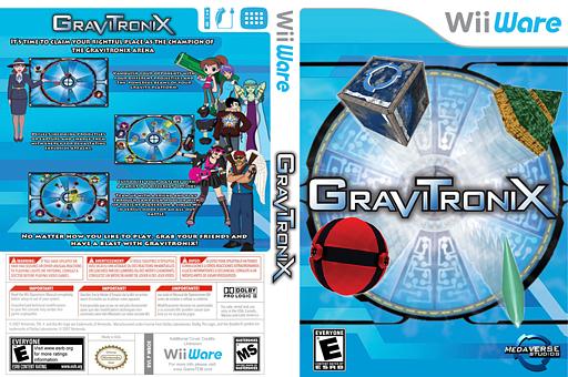 Gravitronix WiiWare cover (WBOE)