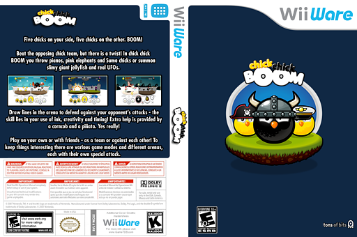 chick chick BOOM WiiWare cover (WCKE)