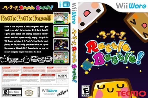 3-2-1, Rattle Battle! WiiWare cover (WCUE)
