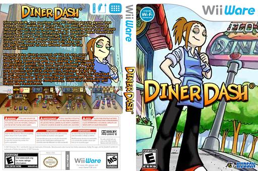 Diner Dash WiiWare cover (WDDE)